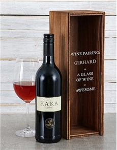 gifts: Personalised Wine Pairing Wine Crate!