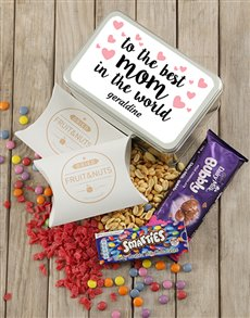 gifts: Personalised Best Mom Snack Tin!