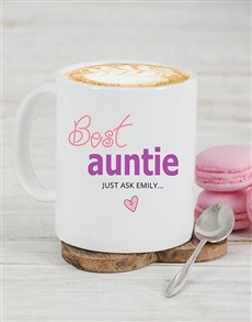 gifts: Personalised Best Auntie Mug!