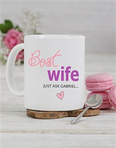 gifts: Personalised Best Wife Mug!