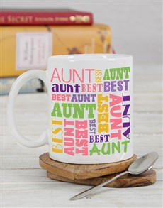 gifts: Personalised Best Aunt Mug!