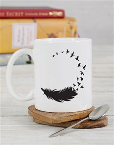 gifts: Personalised Feather Mug!