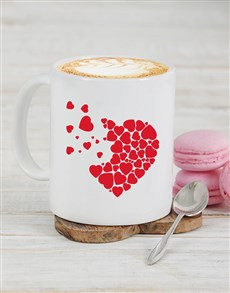gifts: Personalised Heart Pieces Mug!
