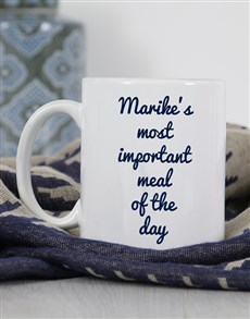 gifts: Personalised Important Meal Mug!