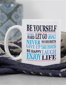 gifts: Personalised Be Yourself Mug!