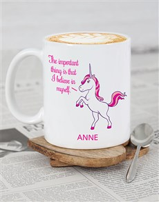 gifts: Personalised Unicorn Motivation mug!