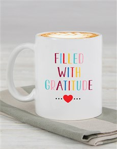 gifts: Personalised Filled With Gratitude Mug!