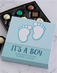 gifts: Personalised its a Boy Choc Tray!