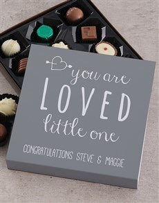 gifts: Personalised You Are Loved Choc Tray!