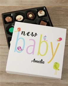gifts: Personalised New Baby Choc Tray!