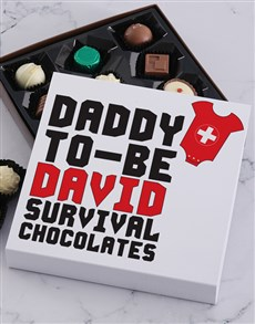 gifts: Personalised Daddy To Be Choc Tray!