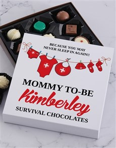 gifts: Personalised Mommy To Be Choc Tray!