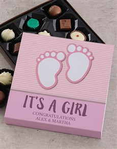 gifts: Personalised Its a Girl Choc Tray!
