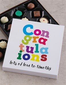 gifts: Personalised Congratulations Choc Tray!