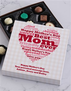 gifts: Personalised Best Mom Choc Tray!