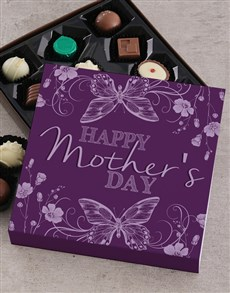 gifts: Personalised Purple Mothers Day Choc Tray!