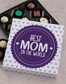 gifts: Personalised Best Mom In The World Choc Tray!