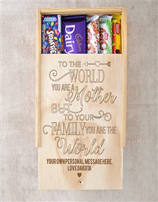 gifts: Personalised You Are The World Choc Crate!