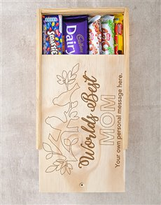 gifts: Personalised Worlds Best Mom Choc Crate!