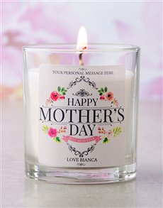 gifts: Personalised Happy Mothers Day Candle!