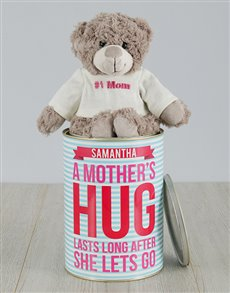 gifts: Personalised Mothers Hug Teddy Tin!