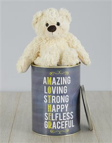 gifts: Personalised Mother Teddy Tin!