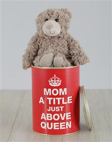 gifts: Personalised Mom Queen Teddy Tin!