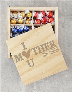 gifts: Personalised I Heart U Lindt Crate!