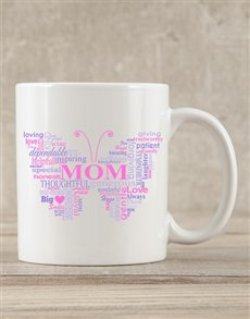 gifts: Personalised Butterfly Mom Mug!
