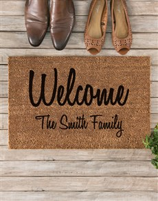gifts: Personalised Welcome To Our Home Doormat!