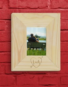 gifts: Personalised Heart Photo Frame!