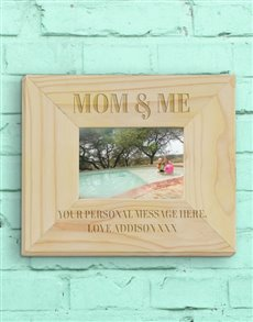 gifts: Personalised Mummy And Me Photo Frame!