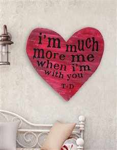 gifts: Personalised Much More Wooden Heart!