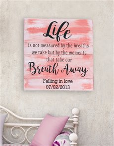 gifts: Personalised Breath Away Wall Art!