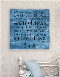 gifts: Personalised Weirdness Wall Art!