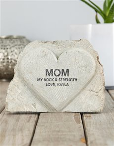 gifts: Personalised Rock And Strength Stone Heart!