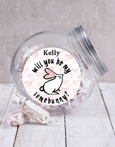 gifts: Personalised Be My Somebunny Candy Jar!