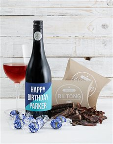 gifts: Personalised Blue Gourmet Birthday Hamper!