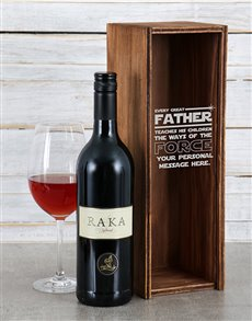 gifts: Personalised Fathers Force Wine Crate!