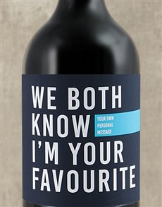 gifts: Personalised Im Your Favourite Wine!