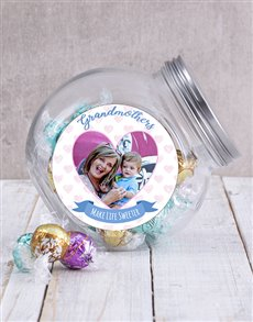gifts: Personalised Grandmother Photo Candy Jar!