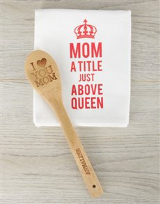 gifts: Personalised Love You Mom Spoon!