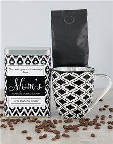 gifts: Personalised Black Diamond Moms Blend Coffee Tin!