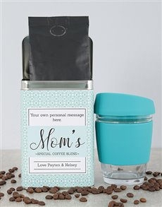 gifts: Personalised Green Moms Blend Coffee Tin!
