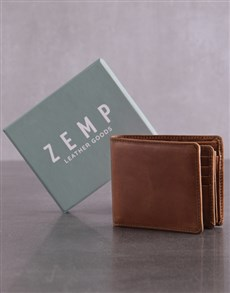 gifts: Personalised Tan Jinger Jack James Mens Wallet!