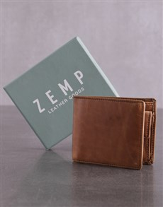 gifts: Personalised Tan Jinger Jack Max Mens Wallet !