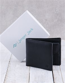 gifts: Personalised Black Jinger Jack Max Mens Wallet !