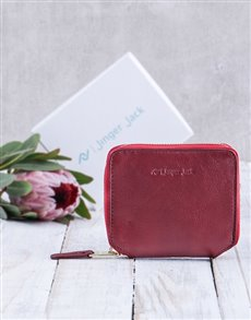 gifts: Personalised Red Jinger Jack Sofia Ladies Purse!