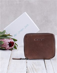 gifts: Personalised Brown Jinger Jack Sofia Ladies Purse!
