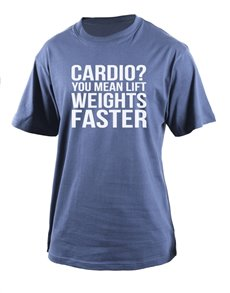 gifts: Personalised Petrol Cardio Weights T Shirt!